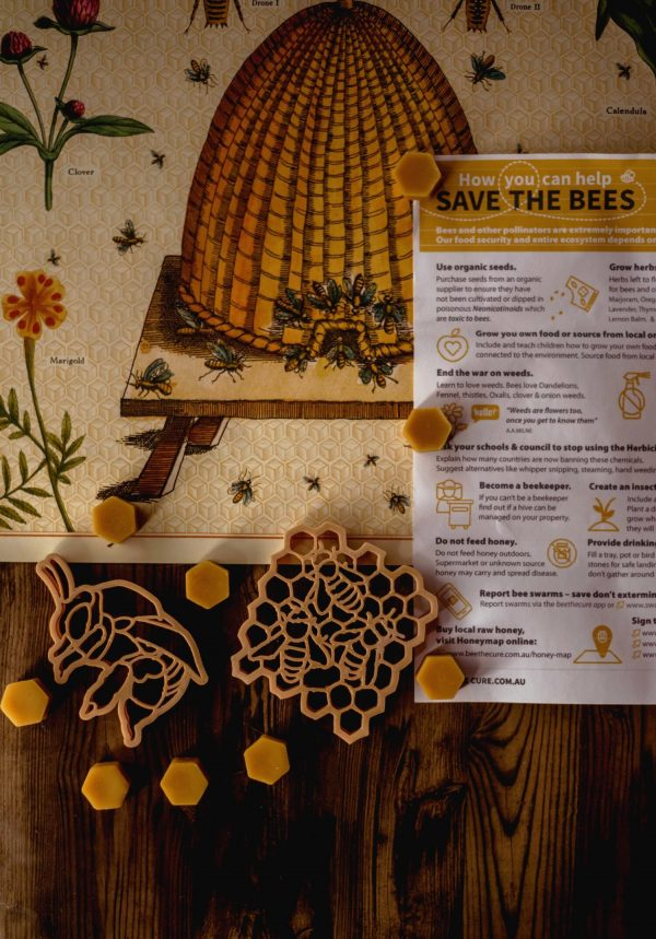 Kinfolk Teddy Bear Bee & Honey Comb Eco Cutter Set